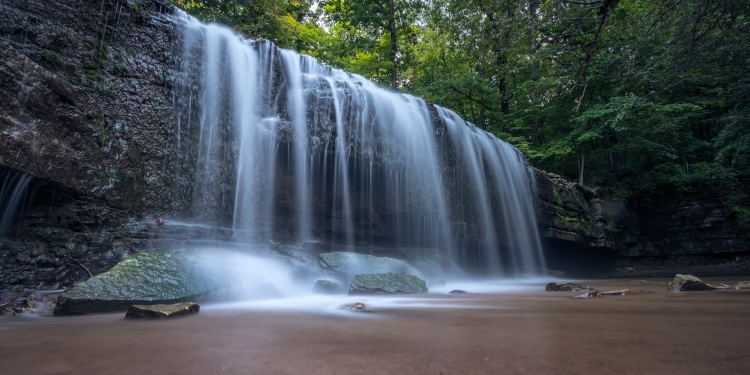 Image of a waterfall within the Cannon River